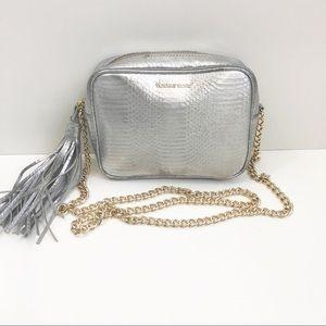 Victoria's Secret   Silver Metallic Bag w/ Chain